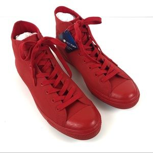 Converse All Red High Top Tectuff Leather Shoes